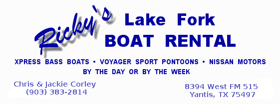 Ricky's Lake Fork Boat Rental